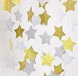 Fecedy Sparkling Star Garland Bunting for Birthday