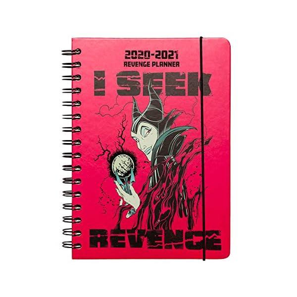 Diario Scuola Settimanale 2020/2021 Disney Malefica, 12 mesi, A5, spazi extra per la pianificazione, adesivi stickers 1 spesavip