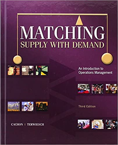 matching supply with demand cachon terwiesch solutions