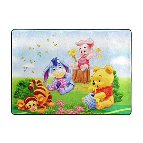 Super Soft Indoor Baby Winnie The Pooh Area Rugs Anti-Skid Dining Room Home Bedroom Carpet Floor Mat 80 X 58 Inches