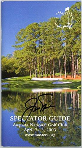 Jack Nicklaus Autographed 2003 Augusta National Golf Club Program JSA #P98635