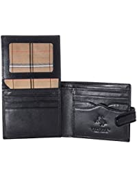 Monza 2 Mens ID Card Holder Leather Bifold Wallet Gift Boxed