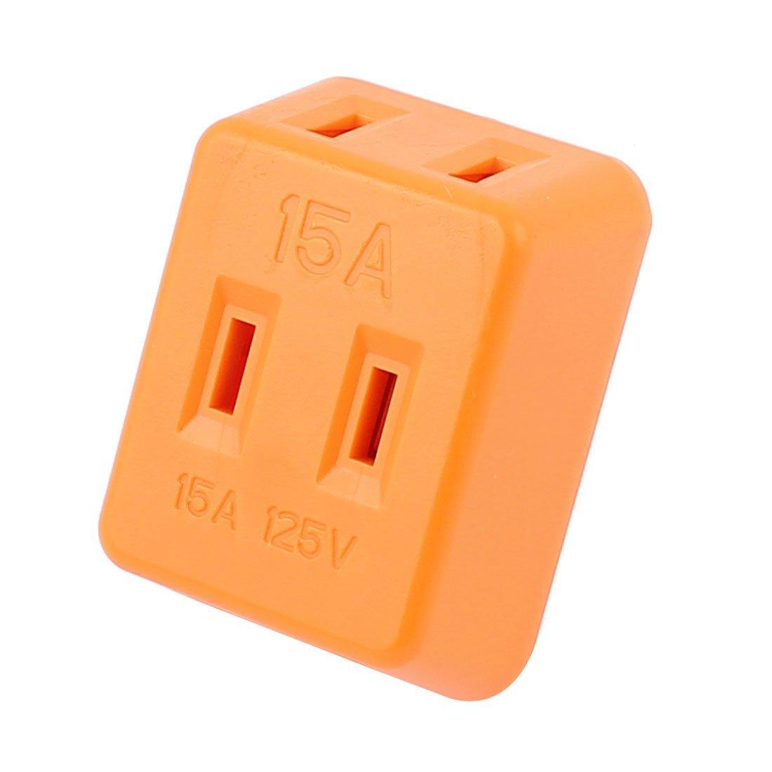 Amazon.com: AC 125V 15A enchufe de EE.UU. 1 a 3 maneras cargador de la energía del zócalo del adaptador Orange: Electronics