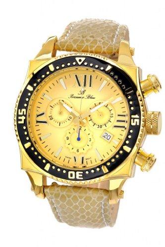 Porsamo Bleu Milan M Genuine Leather Gold Tone, Beige & Black Men's Watch 033CMIL