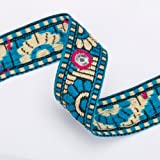 Neotrims Trimming Indian Mirror Work Sequin Ribbon by the Yard, Wholesale Online, Great Price for Hand embroidery embellished Gujarat Style Folk Ribbon of India for Sari, Salwar Kameez or Crafts and Apparel.