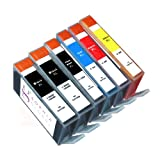 Sophia Global Compatible Ink Cartridge Replacement for HP 564XL (2 Black, 1 Photo Black, 1 Cyan, 1 Magenta, 1 Yellow)