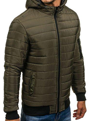 Men's Green 4D4 Classic Mix Transitional BOLF Casual ak85 Jacket Lightweight vBdvfw