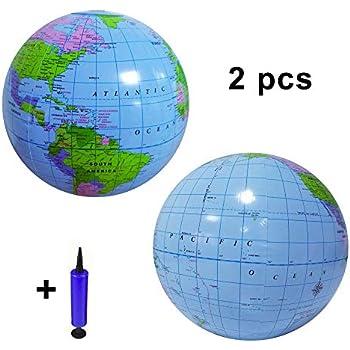 Amazon.com: UYMIQ 2 globos inflables de PVC con bomba de ...
