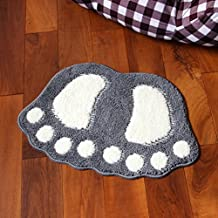 Various Size Cartoon Foot Entryway Door ZebraSmile Carpet Entryway Door Rug For Restroom Home Entrance Door Carpet Entry Microfiber Doormat Indoor Carpet Bathroom Mat With Anti-slip Door mat