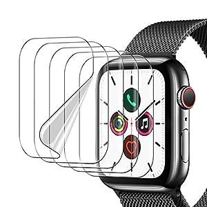 UniqueMe [5 pièces] Protection écran pour Apple Watch Series 6 / Apple Watch Se 44mmFilm, [Installation Facile] [Film…