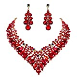 Best Mom Jewelry Sets - BriLove Women's Wedding Bridal Crystal Hollow Cluster Teardrop Review
