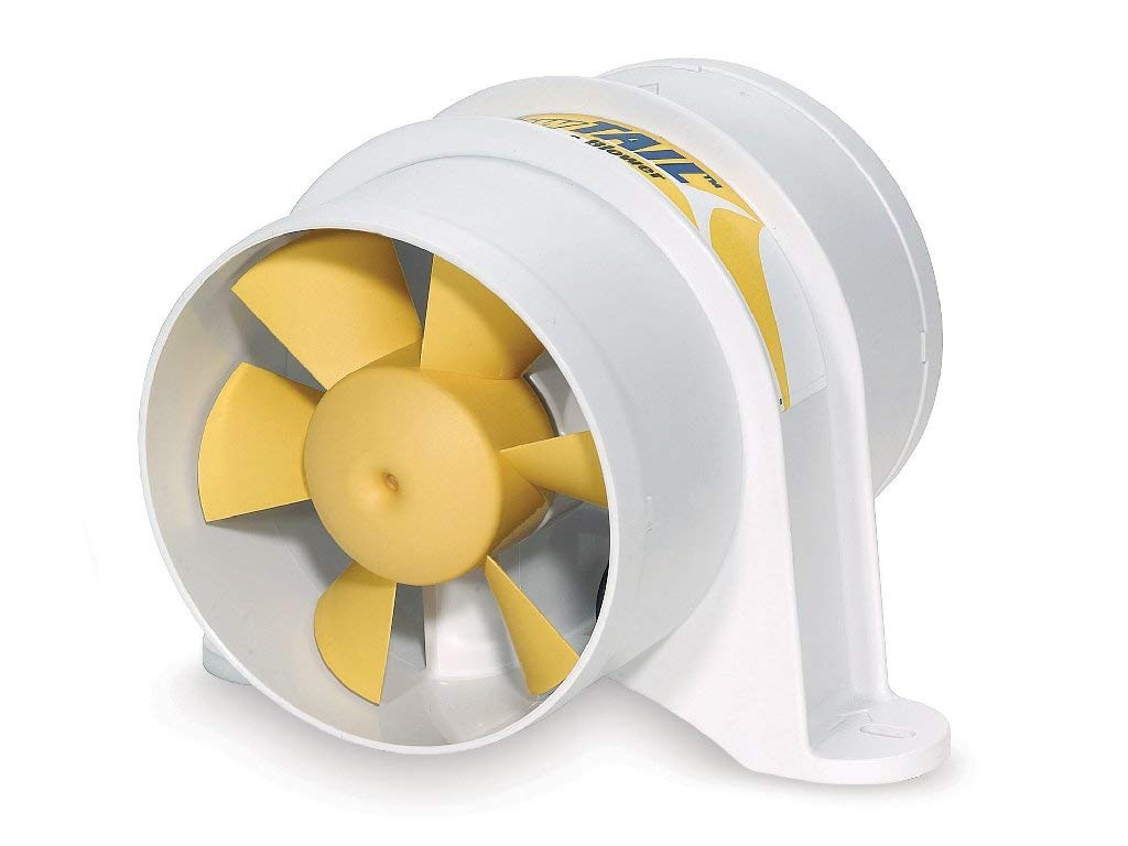 Marine 4'' In-line Blower for Boats - Yellow Tail - 220 CFM - Shurflo