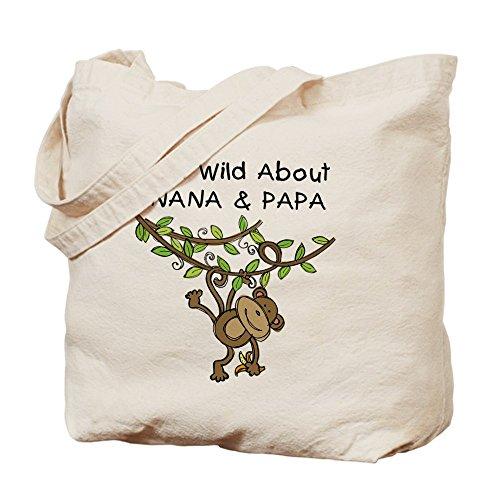 CafePress–Wild About Nana & Papa, Borsa di tela naturale, panno borsa per la spesa