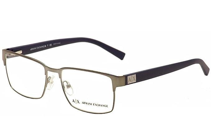 80ef28a8a999 Armani Exchange AX1019 Eyeglass Frames 6087-54 - Gunmetal  Amazon.ca ...