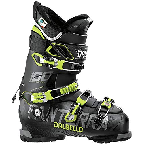 Dalbello Sports Panterra 100 Ski Boot - Men's Black/Acid Yellow, 27.5
