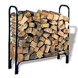 Cheap HY-C Black Painted Medium Tubular Log Rack