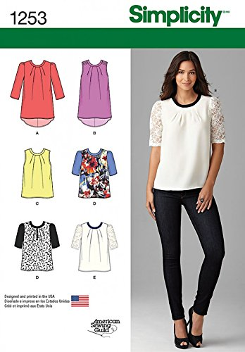 Simplicity Ladies Sewing Pattern 1253 Tops, Tunics & Blouses ...