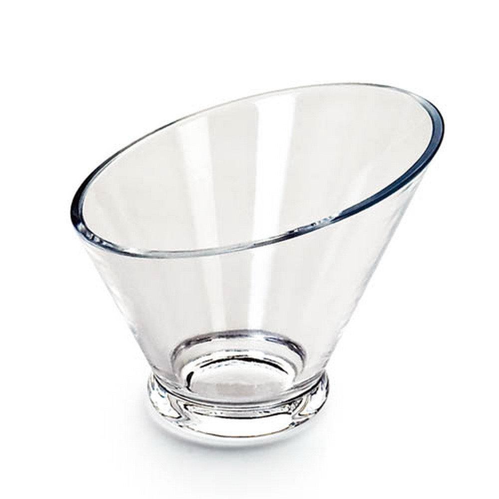 Giftale Acrylic Salad Bowl Break-Resistant , Polycarbonate Plastic Glassware Collection #9237