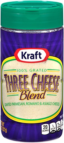 Kraft Cheese 100% Grated Three Cheese Blend, 8 oz (Grated Parmesan)