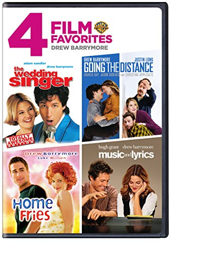 4 Film Favorites: Drew Barrymore (Music and Lyrics, Going the Distance, The Wedding Singer: Special Edition, Home Fries)