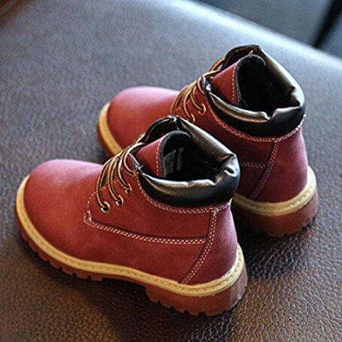 Hunpta Kinder Mode Jungen Mädchen Martin Sneaker Stiefel Kinder Baby Freizeitschuhe Wein