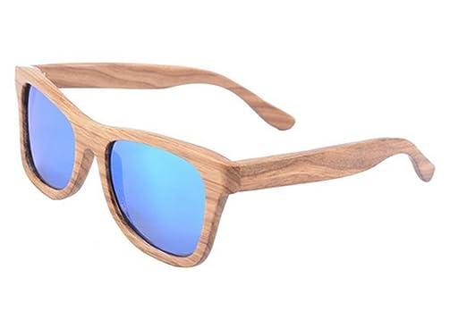 SHINU Holz-Sonnenbrille-Frauen-Weinlese-Holzplatz Brille Polarized Objektiv SH6001 Dh99qTD5j