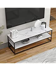 DlandHome TV Stand Table and Entertainment Center Console Table Side Table with Shelves