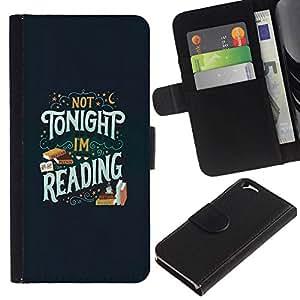 All Phone Most Case / Oferta Especial Cáscara Funda de cuero Monedero Cubierta de proteccion Caso / Wallet Case for Apple Iphone 6 // Tonight Reading Book Text Book