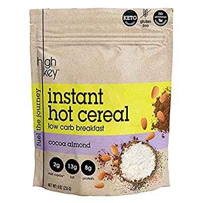 HighKey Snacks Keto Instant Hot Cereal Breakfast - Gluten & Grain Free - Perfect Ketogenic Friendly Food - Low Carb, High Protein - Good for Desserts, Atkins & Diabetic Diets