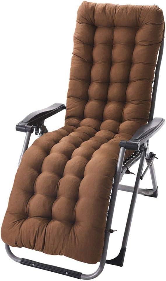 Only Cushion Sedia a Sdraio da Giardino Sdraio Cuscini Imbottiti Patio reclinabili Lounge Cuscino del Sedile,Cuscino Imbottito Lettino Relax Soggiorno Salotto Sala Spiaggia Sdraio Cortile Terrazzo