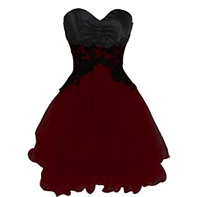 Red and Black Formal Cocktail Dresses