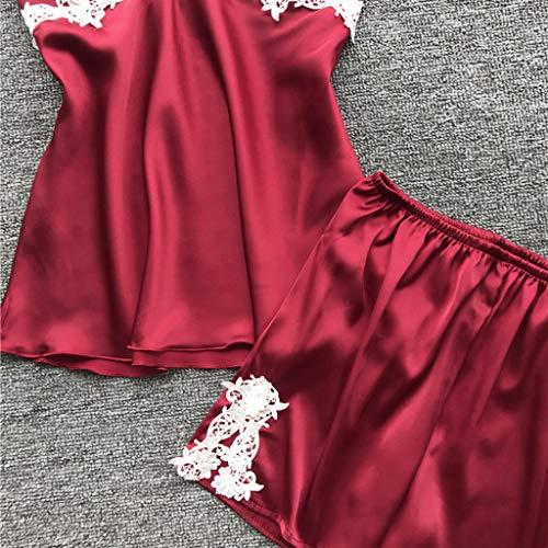 Alalaso 5PC Set Sleepwear for Women Sexy Lace Lingerie Nightwear Underwear Babydoll Shorts Tops by Alalaso sleepwear (Image #3)