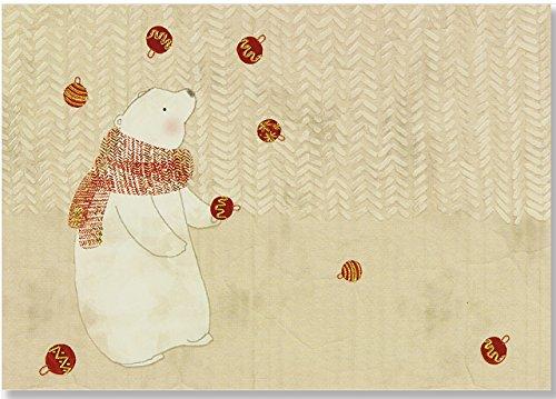 Juggling Polar Bear Small Boxed Holiday Cards (Christmas Cards, Holiday Cards, Greeting Cards)