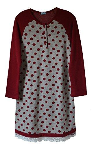 Andra Dreamwear Polka-Dot Sleepshirt