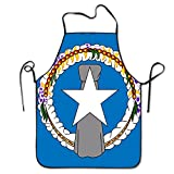 Yongchuang Feng Flag Of The Northern Mariana Islands Unisex Kitchen BBQ Cook Chef Apron Cooking Professional Adults Bibs Gifts Barbecue Aprons
