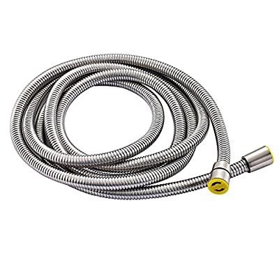 Senlesen Extra Long Stainless Steel Handheld Shower Hose (9.8 Ft) (118 Inches) (3 Meters), Brushed Nickel