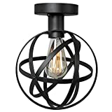LALUZ Globe Ceiling Lamps 1-light Semi Flush Mount Ceiling Light