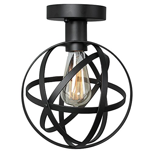 Homeangel Wire Cage Ceiling Lights 1 Light Globe Ceiling Lamp For Living Room Bedroom Cafes