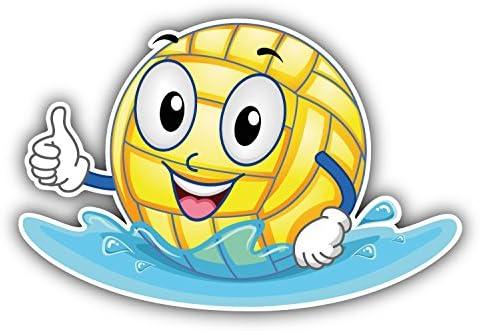 Water Polo Smiley Ball Pegatina de Vinilo Para la Decoracion del ...