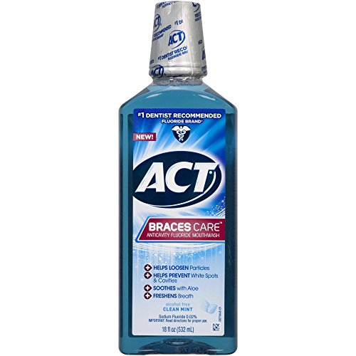 Act braces care ant cavity fluoride mouthwash clean mint 18 oz pack of 2 act beautil - Unusual uses for mouthwash ...