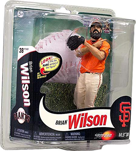 McFarlane Toys MLB Sports Picks Series 30 Action Figure Brian Wilson (San Francisco Giants) Orange Jersey Gold Collector Level Chase