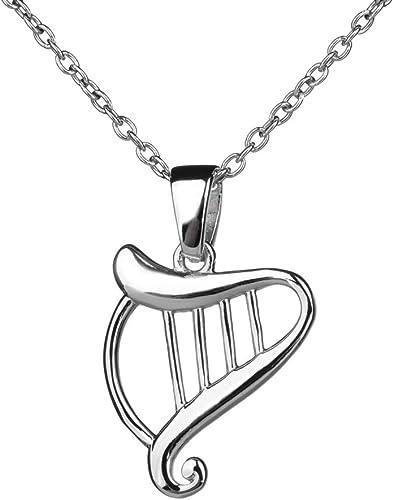 Keltische Harfe Irish Harp Kette irischer Schmuck aus Sterling Silber