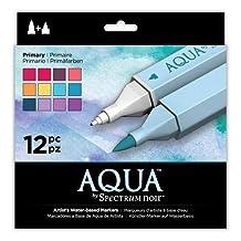 Aqua Markers by Spectrum Noir 12 Count Primary