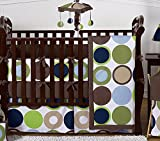 Sweet Jojo Designs 9-Piece Designer Dot Modern Baby Boys Bedding Crib Set