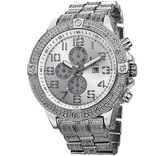 Joshua & Sons Men's JS78SS Swiss Quartz Multifunction Silver-tone Bracelet Watch