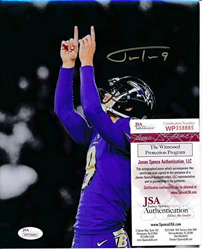JUSTIN TUCKER Ravens Signed/Autographed 8x10 Photo JSA 138371