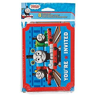 American Greetings Thomas and Friends Invite and Thank You Combo Pack (8-Count): Toys & Games