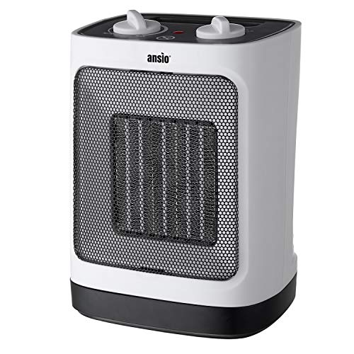 - ANSIO Electric Heater Ceramic Space Heater for Home and Office Ceramic Small Heater with 1500W Oscillating, Overheat Protection Ideal for Small & Medium Rooms - 2 Year Warranty