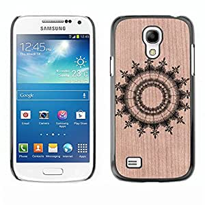 // MECELL CITY PRESENT // Cool Funda Cubierta Madera de cereza Duro PC Teléfono Estuche / Hard Case for Samsung Galaxy S4 Mini i9190 /// Abstract Pattern Symmetrical ///