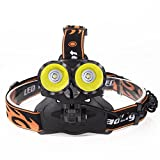 LED Headlamp, Paymenow 1000 Lumen 2 CREE XM-L2 T6 3 Modes Headlight Helmet Light for Hiking, Camping, Riding, Fishing, Hunting, Outdoor Activities
